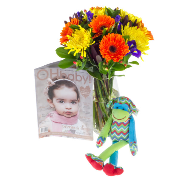 Flowers, Toy and Magazine